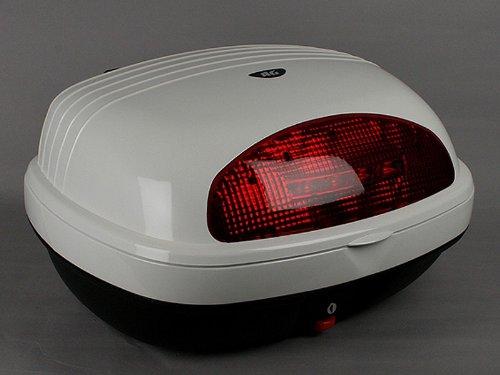 AG-63Wホワイト:AG リアボックス:バイク:キャリア取付用:リアケース BikeBox オシャレなデザイン高品質で頑丈!