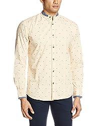 Park Avenue Men's Casual Shirt (8907117075773_PCSL00754-Y3_40_Light Yellow)