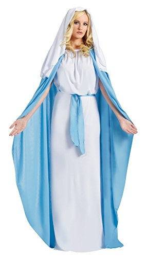[GTH Women's Mary Religious Theme Party Fancy Halloween Costume, One Size (4-14)] (Mary Adult Womens Plus Size Costumes)