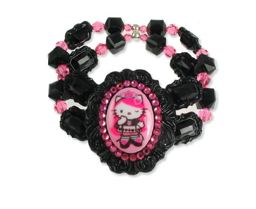 Tarina Tarantino Hello Kitty Pink Head Queen of Pink Cameo Bracelet – Jet