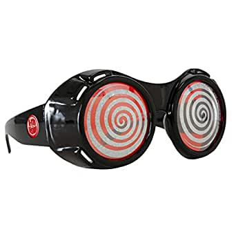 Red X-Ray Goggles Willy Wonka TV Room Sparkle Sunglasses Costume Swirl Adult