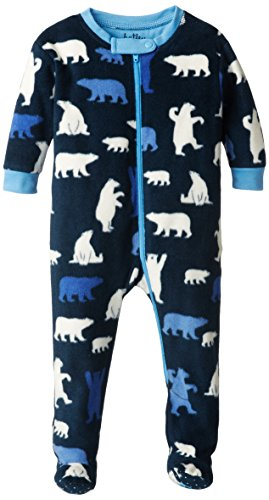 Hatley-Baby Babys - Boys Infant Footed Fleece Coverall - Polar Bear Boy, Blue, 12-18 Months front-30456