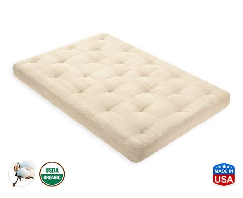3 Inch Organic Cotton Mattress Twin Xl By Comfort Pure front-1045491