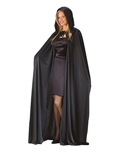Nero mantello con cappuccio
