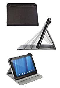 Poetic HP TouchPad Stand Leather Case with Angle Adjustable for HP TouchPad 9.7-inch Tablet PC Wi-Fi (Black)