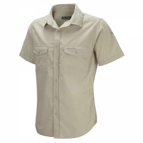 Craghoppers Kiwi - Camicia a maniche corte, Uomo, Avena, L