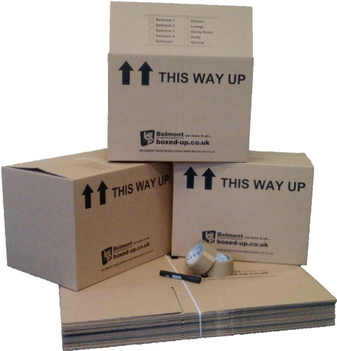 60 LARGE HOUSE MOVING PACKING AND REMOVAL BOXES - 18x13x13