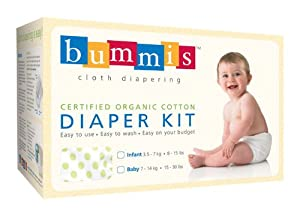 Bummis Organic Cotton Diaper Kit, 8-15 Pounds