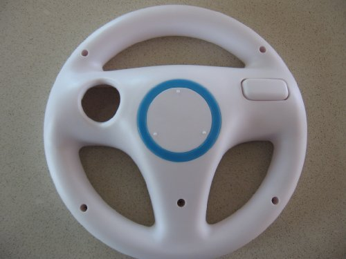 Racing Steering Driving Wheel for Nintendo Wii Mario Kart Video Game Mariokar... (Wii Nascar Steering Wheel compare prices)