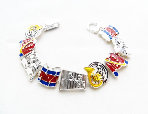 Icon Collection Silver - Plated Marching Band Bracelet