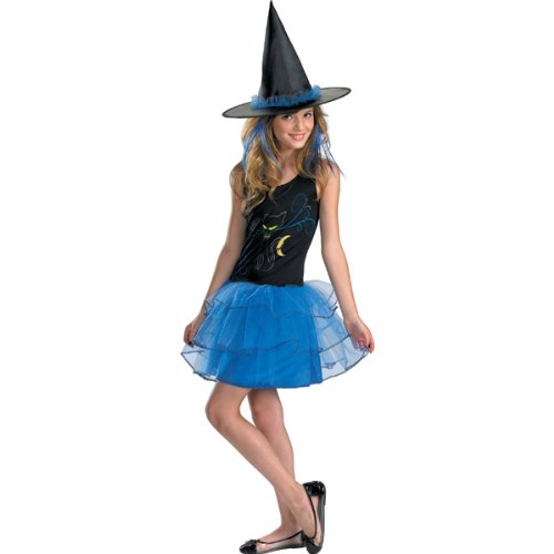 Midnight Witch Child/Teen Costume (Girl's Children's Costume)