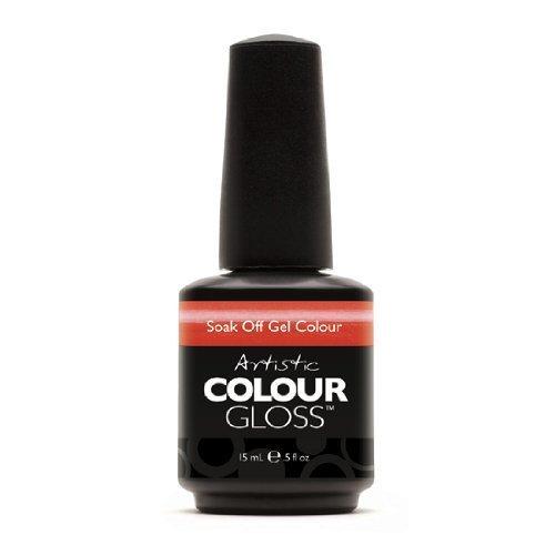 Artistic Nail Design Soak Off Colour Gloss Coral Shimmer Polish 3079 Snapdragon