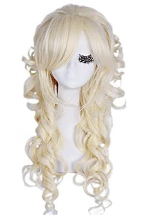 70cm/27.6inch Long Wave Count Colorful Women Earl Costumes Hair Cosplay Wig Zy65
