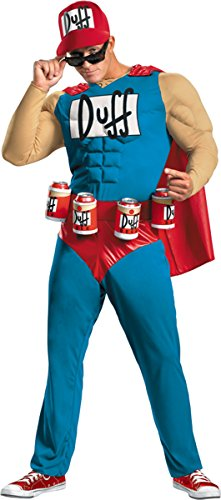 Disguise Costumes Men's Simpsons Duffman Muscle, 50-52