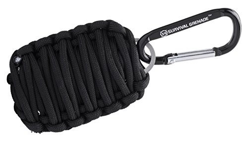 #1 BEST Survival Kit - Survival GRENADE Emergency Key Chain Survival Kit - Paracord Grenade Survival Kit with 8+ Tools + Fire Starter & Eye Knife (Black)