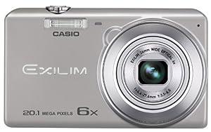 Casio Exilim EX-ZS30SR Digitalkamera (20,1 Megapixel, 6,9 cm (2,7 Zoll) Display, 6-fach opt. Zoom, Premium Auto, Gesichtserkennung-Funktion) silber