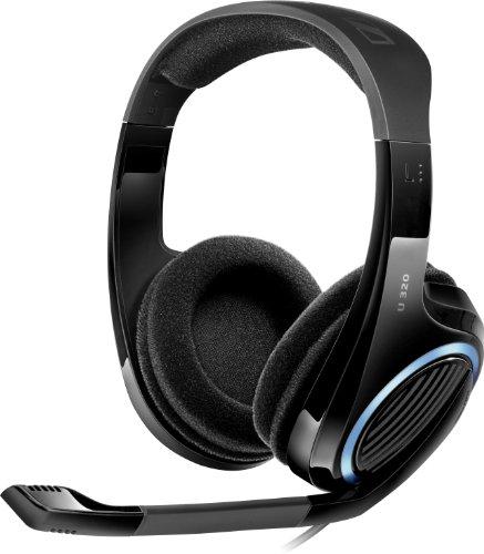 Sennheiser U 320 Multi Konsolen Gaming Headset mit Mikrofon für PC/Mac/Xbox/PS3 schwarz