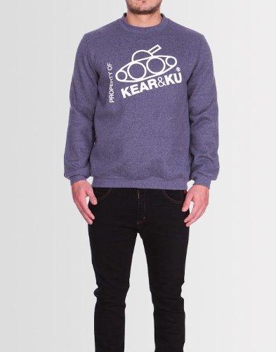 Kear and Ku Mens Slant Sweatshirt Grape : Grape - M