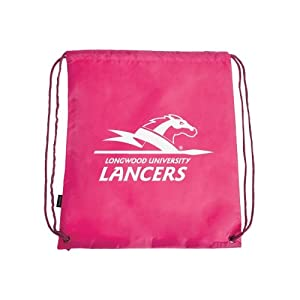 Longwood Nylon Pink Drawstring Backpack, Lancer w/Word Mark