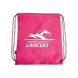 Longwood Nylon Pink Drawstring Backpack, Lancer w/Word Mark