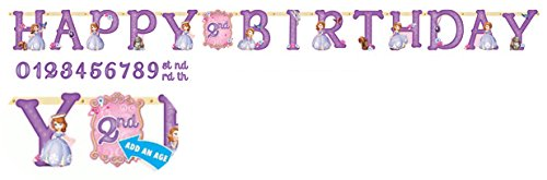 Disney Princess Sofia the First Kids Birthday Party Jumbo Add An Age Letter Banner 10 Ft. (1ct) - 1