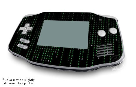 Matrix Style Code Design GameBoy Advanced Decorative Protector Skin Decal Sticker
