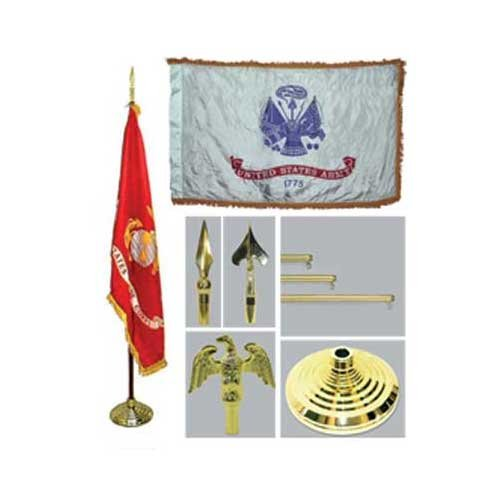 Army 4Ft X 6Ft Indoor Flag Telescoping Flagpole Base And Tassel