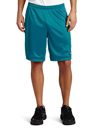 Champion Men's Long Mesh Short With Pockets, New Turquoise, X-Large