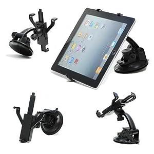 Nahas-Shop - Universal KFZ Halterung Halter mit 360 Grad drehbar für Ihr Tablet PC, Tab, IPad 1 2 3 4 Mini , Note, TV