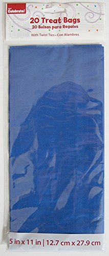 Blue Design Cello Treat Bags, 20-Pack