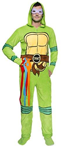 add1703e6 Teenage Mutant Ninja Turtle s Unisex Hooded Fleece Onesie Footed ...