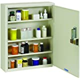 STEELMASTER Medical Security Cabinet with Simplex Lock, 16.5 x 20.25 x 5 Inches, Putty (2019075S89)
