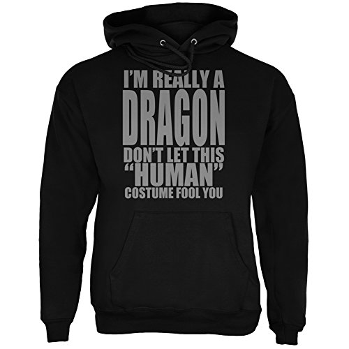 Halloween Human Dragon Costume Black Adult Hoodie