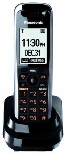 Panasonic Dect 6.0 Black Additional Premium Cordless Handset with Larger LCD and ChoiceMail (KX-TGA740B)