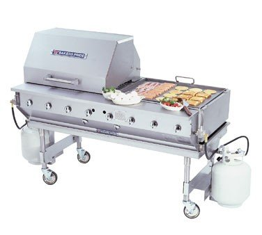 Bakers Pride CBBQ Ultimate Outdoor Radiant Gas Char Broiler, 62 x 34 x 36 inch -- 1 each.