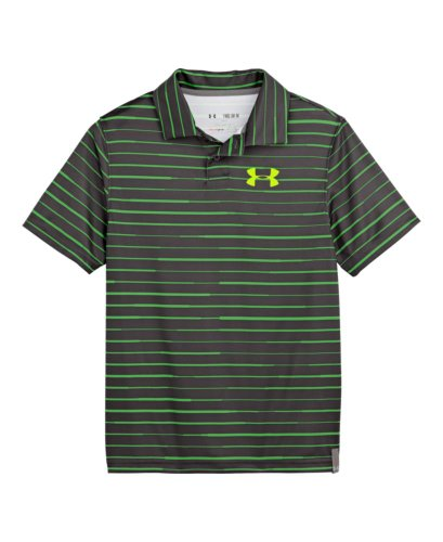 Under Armour Big Boys' Ua Seismic Strip Polo Youth Medium Charcoal front-912757