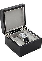 TSBOXBK1 Single Watch Box 1 Extra Large Wood Black Finish