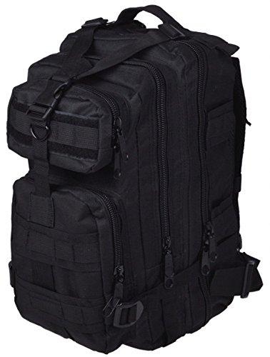 30L Military Tactical Multicam Backpack Rucksack Sport Hiking Trekking Bag (Black) front-907057