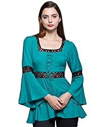 Tryfa Women's Tunic (TFTPTN0000126-XS-M_Green_Medium)
