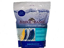 One Bag (3.75 lbs) Bubble Bandit Dishwasher Detergent with Phosphate. ALL-IN-ONE (Soak & Wash & Rinse). Up to 60 wash cycles in every bag!