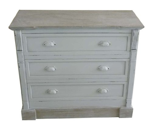 WHITE SHABBY CHIC VINTAGE FRENCH STYLE CHEST OF 3 DRAWERS BEDROOM FURNITURE