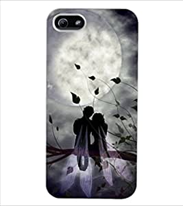 ColourCraft Angel Couple Design Back Case Cover for APPLE IPHONE 5