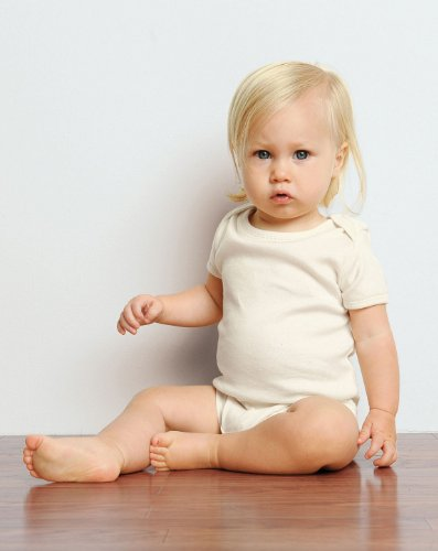 Bella 104 Infant'S Baby Rib S-Sleeve One-Piece - Natural - 12-18Mos front-914108