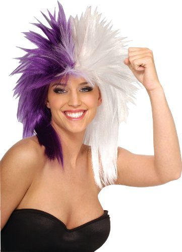 Rubie's Costume Purple and White Sports Fan Wig - 1