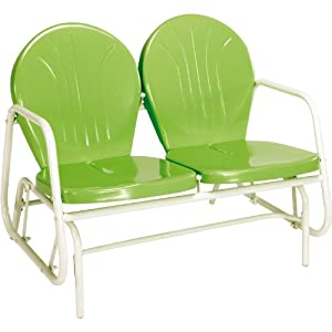Jack Post BH-10GR Retro Glider, Green from Jensen Distributing - Lawn & Garden