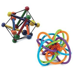 Manhattan Toy Skwish Classic Rattle and Winkel Rattle - 1