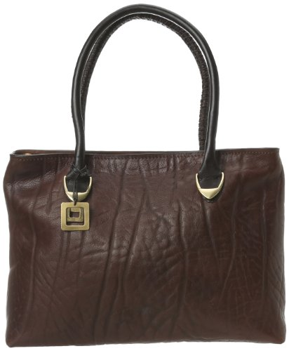 Scully Hidesign H407-09-25 Satchel,Chocolate,One Size