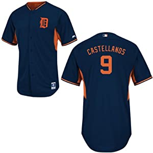 Nick Castellanos Detroit Tigers Road Batting Practice Jersey by Majestic by Majestic