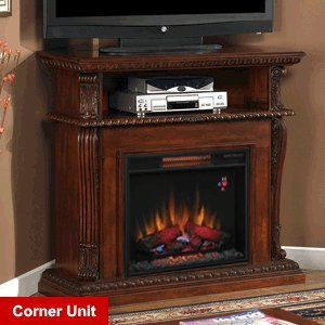 ClassicFlame Corinth Infrared Electric Fireplace Media Console in Vintage Cherry - 23DE1447-C233 photo B004C5R3Z4.jpg