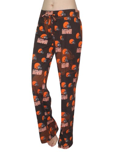 NFL Cleveland Browns Womens Cotton Sleepwear / Pajama Pants L Multicolor at Amazon.com